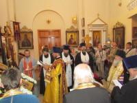 Молебен перед началом крестного хода в храме Царственных страстотерпцев в Могилеве