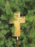 Одна из святынь крестного хода - крест с частицей мощей Патриарха Тихона