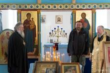 Приветствие паломников Владыкой Димитрием и ответное слово руководителя крестного хода Андрея Бардижа
