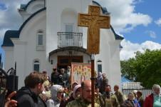 """Выход из храма иконы Божией Матери """"Целительница"""" для шествия по Витебску"""