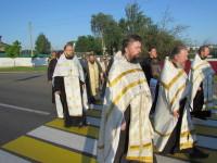 Шествие по Орше в сопровождении местного духовенства, казачества и простых мирян