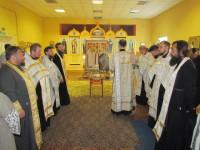 Молебен в храме апостола Андрея Первозванного на выходе из Орши
