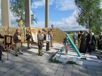 Молебен на Тихмяновской высоте