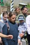 В крестных ходах часто участвуют целые благочестивые семьи