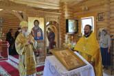 Литургия во Владимирском храме поселка Межисетки