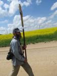 Крестоходец Павел из Твери молится  о белорусской земле