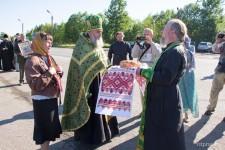9 июня встреча крестного хода и молебен на Белорусско-Российской границе