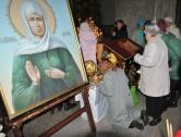 В канун праздника Покрова в Могилеве встретили мощи блаженной Матроны Московской