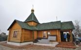Освящение храма в честь блаженной Матроны Московской в селе Присно