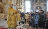 В Неделю 33-ю по Пятидесятнице епископ Софроний  совершил  Литургию в соборе Трех святителей