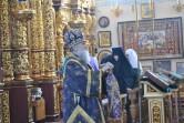 В Неделю 4-ю Великого поста владыка Софроний совершил Литургию в Свято-Никольском монастыре города Могилева