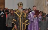 В Неделю 5-ю Великого поста архиепископ Софроний совершил Литургию в Спасском соборе г.Могилева