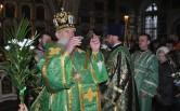 Архиерейское богослужение в канун Вербного воскресенья