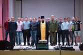 В Черикове протоиерей Николай Жук благословил призывиков на срочную воинскую службу