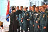 Архиепископ Могилевский и Мстиславский Софроний благословил новобранцев МЧС