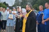 Настоятель храма Воскресения Христова г.Кричева протоиерей Сергий Коростелев благословил начало сбора хлебного урожая в Кричевском районе