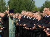 Протоиерей Сергий Лобода благословил курсантов первого курса института МВД