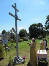 В Чериковском районе, на месте разрушенного Ильинского храма, освящен поклонный крест