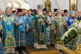 В канун праздника Покрова Пресвятой Богородицы архиепископ Софроний сослужил Святейшему Патриарху Кириллу за утреней всенощного бдения