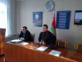 В Чаусском РОВД священник провел беседу с людьми, состоящими на профилактическом учете