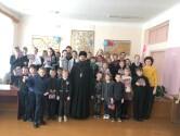 В Кричеве настоятель храма Воскресения Христова посетил среднюю школу №1