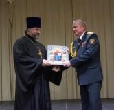 В торжестве, посвященном юбилею Октябрьского районного отдела Департамента охраны, принял участие протоиерей Сергий Лобода