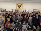 Учащиеся воскресной школы собора Трех святителей посетили выставку  «Царская семья. Восхождение»