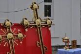 Совершен чин освящения и установка крестов  храма на Буйническом поле