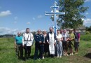 Поклонные кресты воздвигли в нескольких селениях Мстиславского района