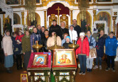 Группа пожилых людей и инвалидов посетила Михайловский храм в Климовичах