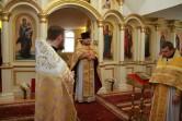 Благочинный Чериковского округа представил прихожанам Успенского храма г.Краснополье  нового настоятеля