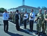 Руководитель военного отдела Могилевской епархии присутствовал на принятии присяги молодых воинов
