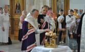Служение архипастыря в канун праздника Преображения Господня