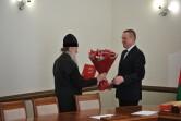 Архиепископ Софроний принял поздравление с 70-летним юбилеем от губернатора Могилевской области